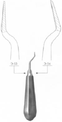 Элеватор зубной штыковидный дистальный № 1Д Э-54 П