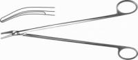 Н-28 П Ножницы сосудистые, вертик. изогнутые под углом, 250 мм