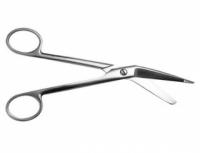 Ножницы для разрезания повязок, с пуговкой, горизонтально - изогнутые, 185 мм Н-14 П