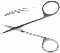 Ножницы глазные тупоконечные, вертикально - изогнутые, 113 мм Н-42 П
