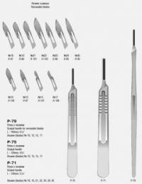Ручка скальпеля малая, 120 мм (№3) Р-75 П